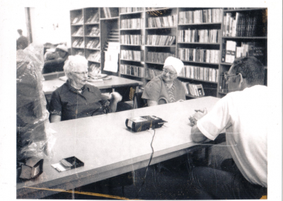 In the library, March 1974